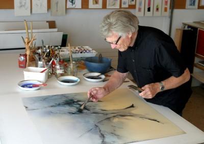 Paul Wyss am arbeiten